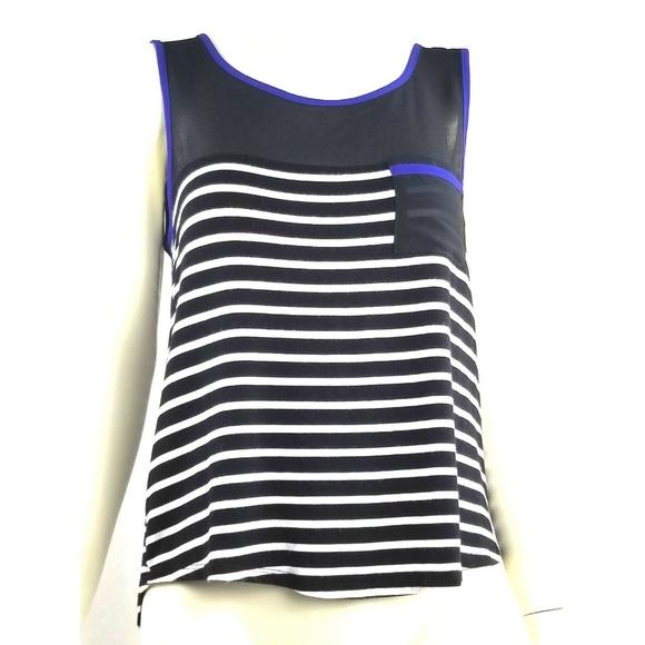 bd0991485b2e Active USA Tops   Black White Striped Sleeveless Top Zipper Back ...